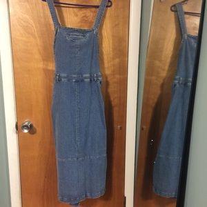 Vintage Tommy Jean denim overalls dress